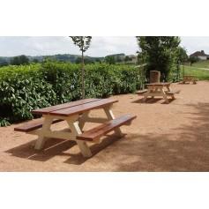 Table béton bois TABA200