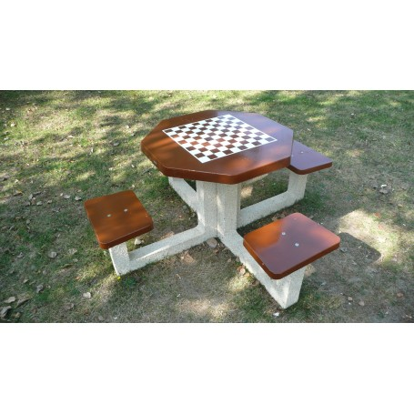 Table de jeux d'échecs ou dames