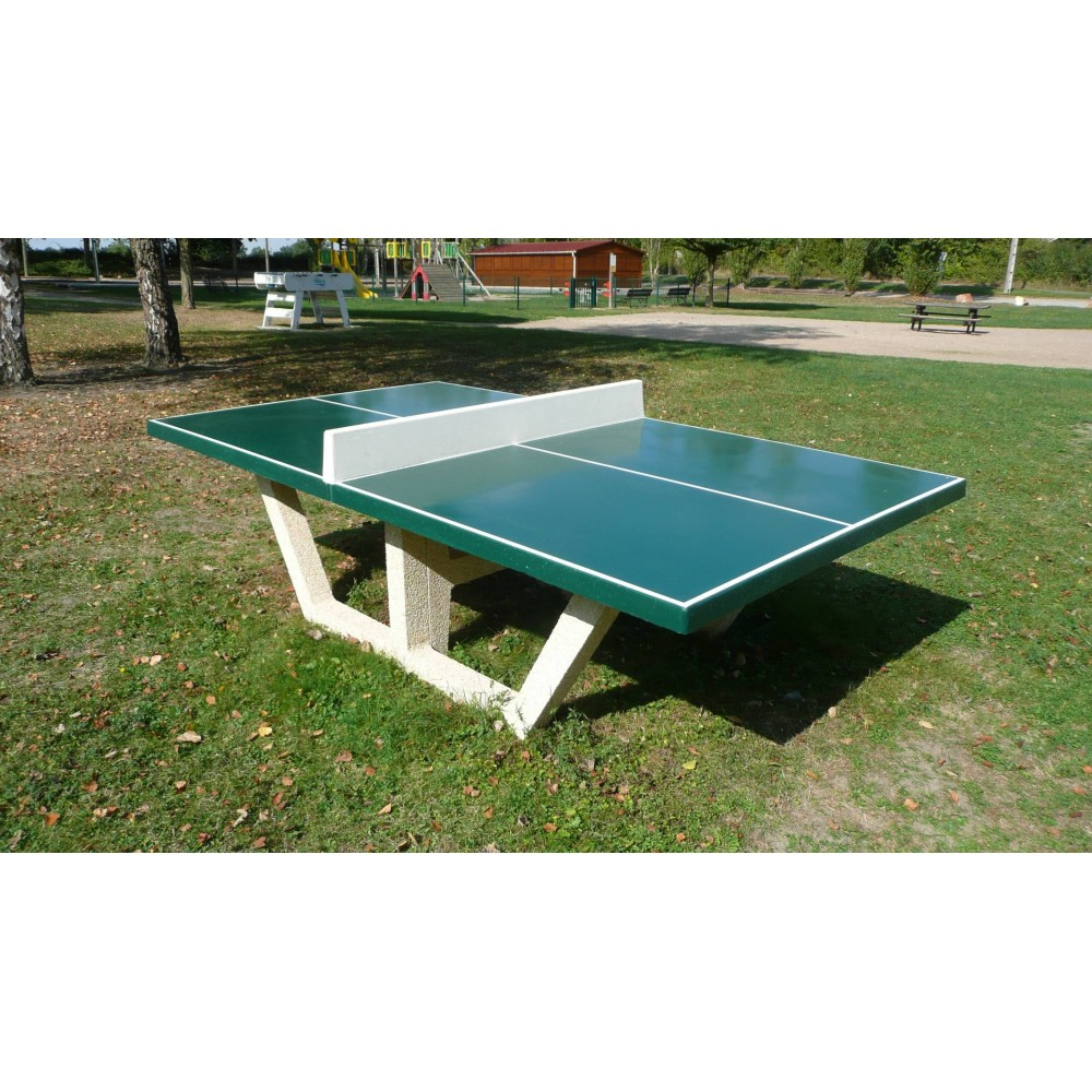 Table ping pong tennis de table en b ton for Table exterieur beton