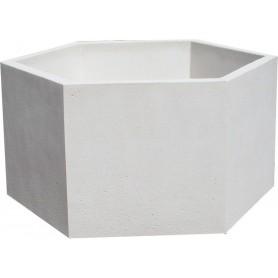 Jardinières hexagonales - Finition Blanc sablé ton pierre
