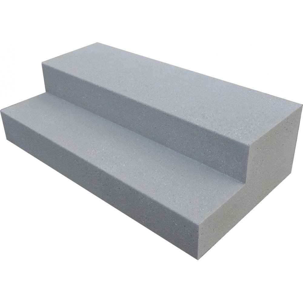 bloc 2 marches en b ton sur mesure. Black Bedroom Furniture Sets. Home Design Ideas