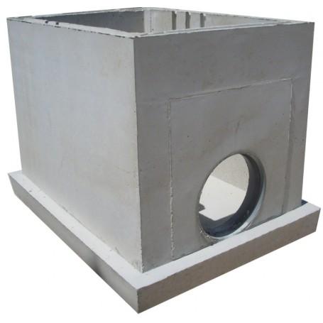 Bonde d'étang 100x140 base manchon PVC 315