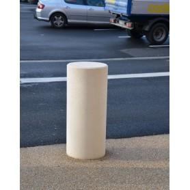 Borne cylindrique Ø40 blanc sablé anti-bélier