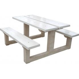 Table béton blanc perle type G