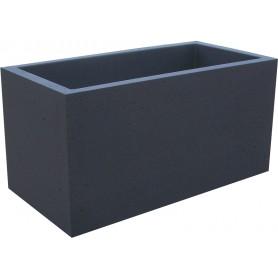 Jardinière 100x50 béton noir