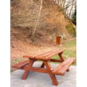 Table forestière aspect bois