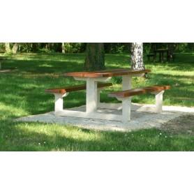 Table béton bois TABG200