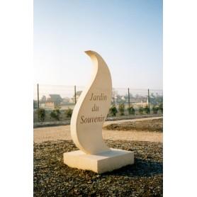 Stèle flamme Jardin du Souvenir