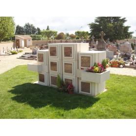 Case columbarium structurée