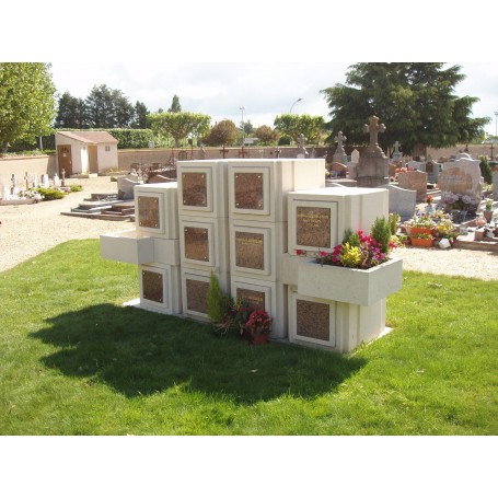 Case columbarium structurée