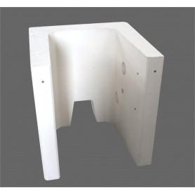 Modules de banc béton blanc