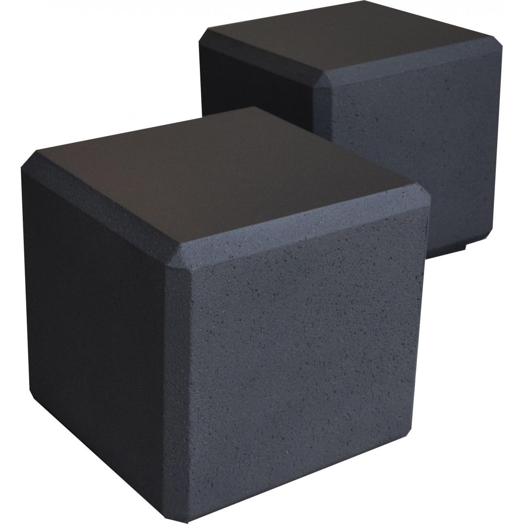 Banc cube 45x45x45 - Noir sablé