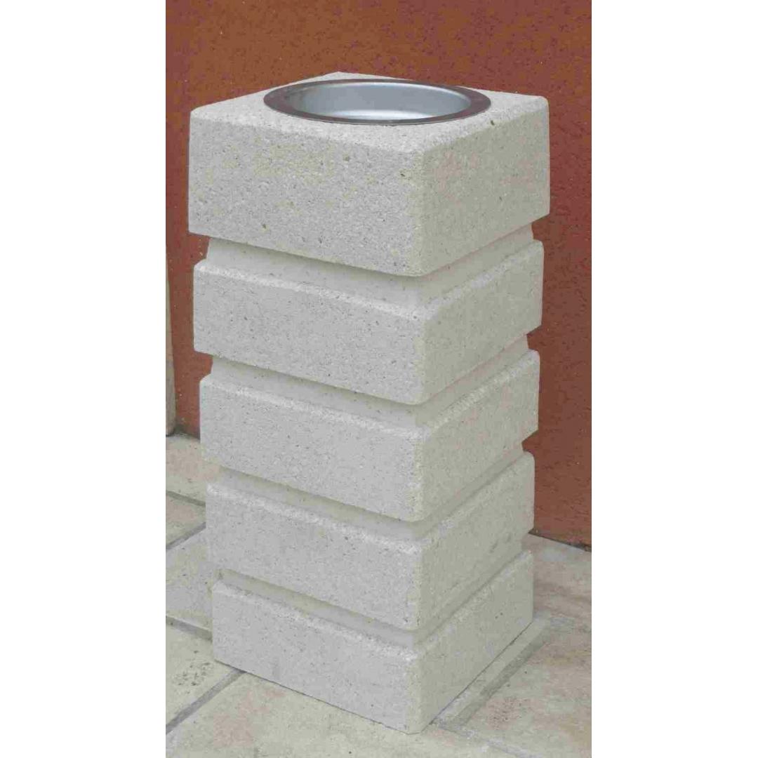 Cendrier ATHOS - Finition Blanc Sablé ton pierre