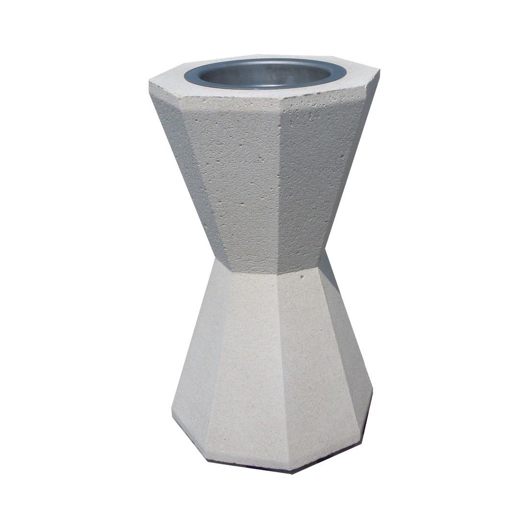 Cendrier sablier CESAB béton blanc