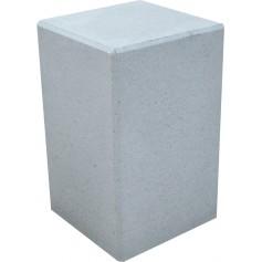 Borne carrée 40x40 cm - Gris sablé
