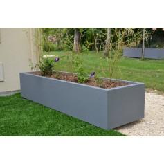 Jardinière 200x60x40 - Finition Gris Moyen