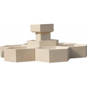 Jardinières hexagonales - Finition Gravillons Lavés