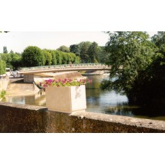 Jardinière Vendôme - Finition Blanc Sablé ton pierre