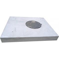 Dalle béton armé avec tampon fonte