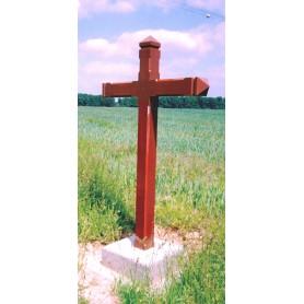 Croix de calvaire aspect bois
