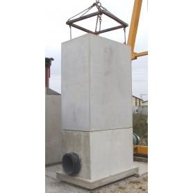 Bonde 100x140 base tuyau 400 écobox + 2m