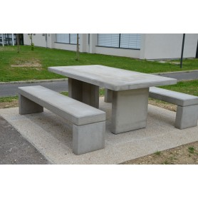 Table béton gris THEMIS