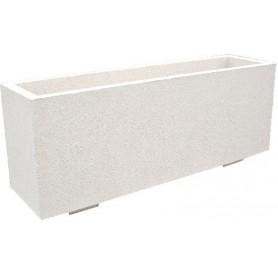 Jardinière 150x40 - Finition Blanc Sablé ton pierre