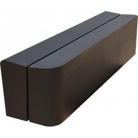 Banc design béton noir