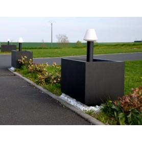Jardinière 100x50 Béton Noir lisse avec réservation