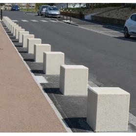 Borne carrée 40x40 cm - Blanc sablé