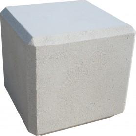 Banc cube 45x45x45 - Blanc sablé