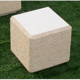 Banc cube 45x45x45 - Gravillons lavés