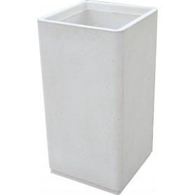 Cendrier grande capacité - Finition Blanc sablé ton pierre