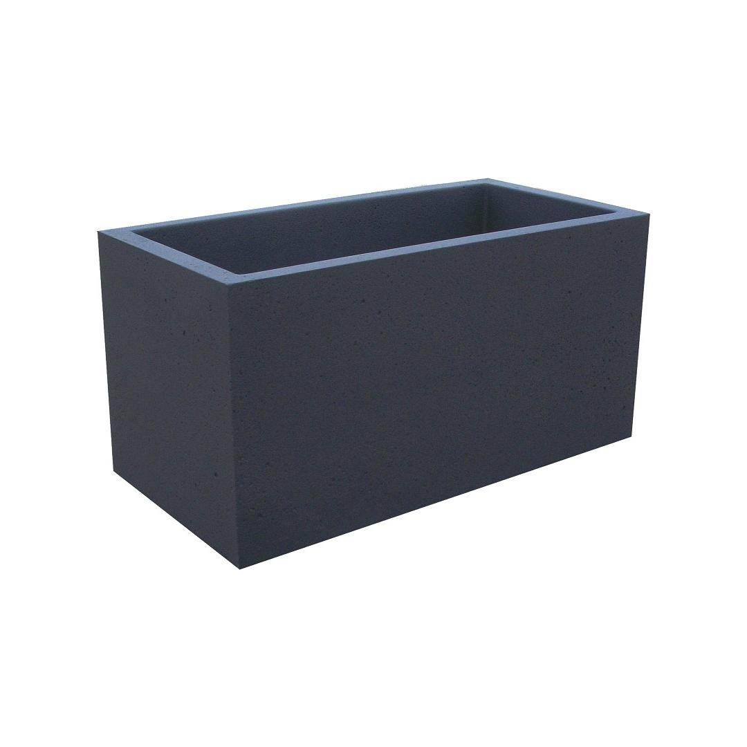 Jardinière 100x50 Béton Noir sablé