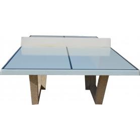 Table ping-pong, teinte à la demande blanc papyrus