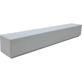 Banc monobloc 300x45 gris sablé