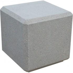 Banc cube 45x45x45 - Gris sablé