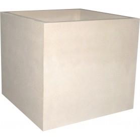 Jardinière en béton 100x100x90 - Finition Blanc sablé