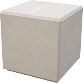 Banc cube 50x50x50 - Finition Blanc Sablé