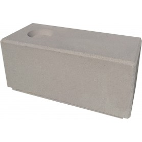 Banc gris 100x45x45 avec réservation cendrier
