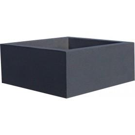 Jardinière en béton 60x60x25 - Finition Gris anthracite