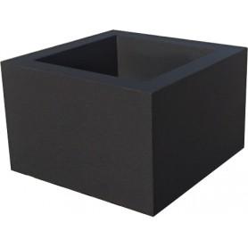 Jardinière en béton 70x70x45 - Finition béton noir