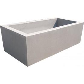 Jardinière 140x70x45cm - Finition gris sablé