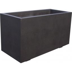 Jardinière 150x70xh80 béton noir