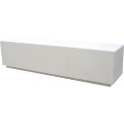 banc 200x50x50 blanc sablé ton pierre