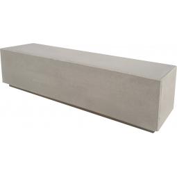 banc 200x50x50 gris sablé