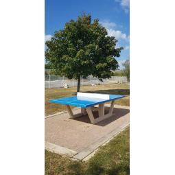 Table ping-pong plateau bleu ciel