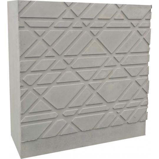 Mur matricé béton gris
