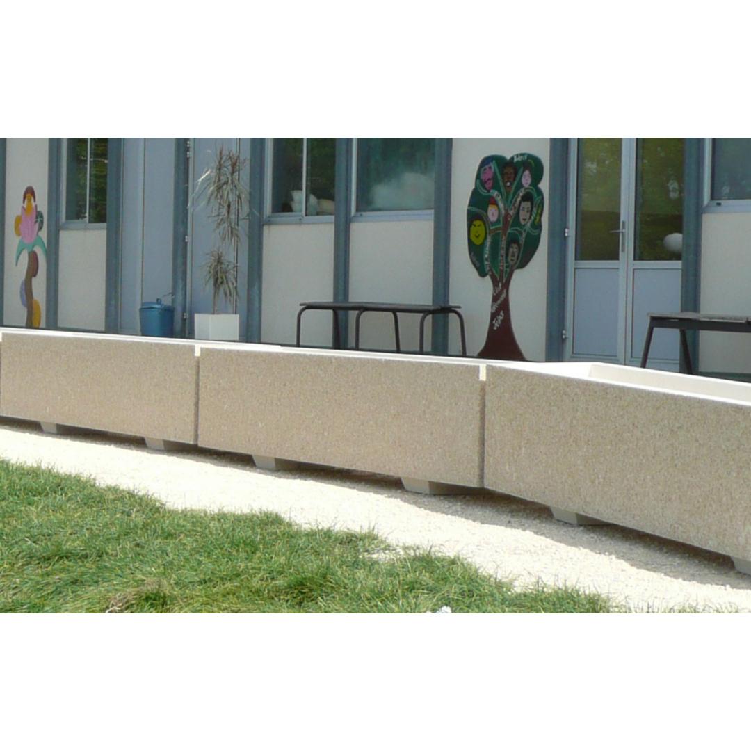 Jardinière 200x40x40 - Finition Gravillons lavés