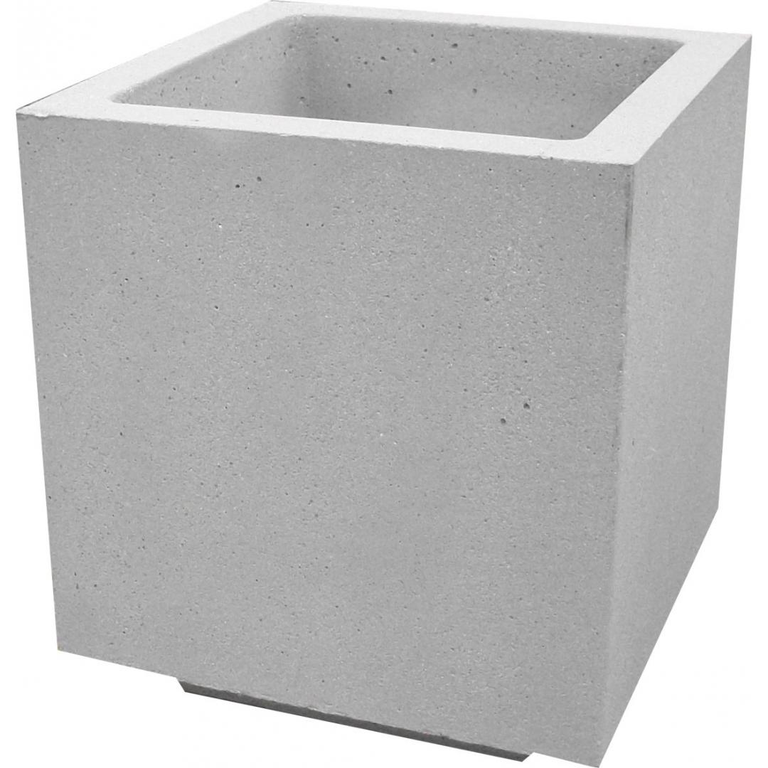 Jardinière 50x50x50 gris sablé